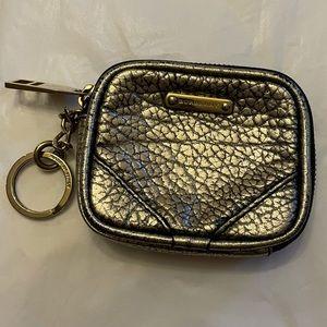 BURBERRY Pebbled Leather Wristlet